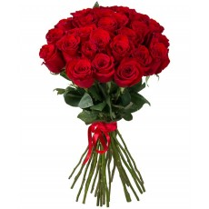 Red roses 60 cm. Flower bouquet.
