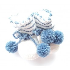 Knitted booties for a newborn boy