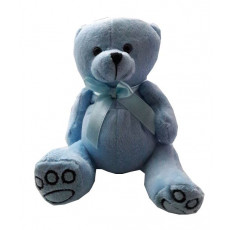 Blue teddy bear 15 cm (only in Riga)