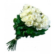Long white roses 70 cm. Changeable amount of flowers.