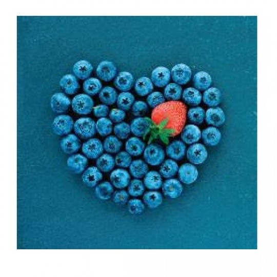 Card Blueberry Heart 6x6 cm