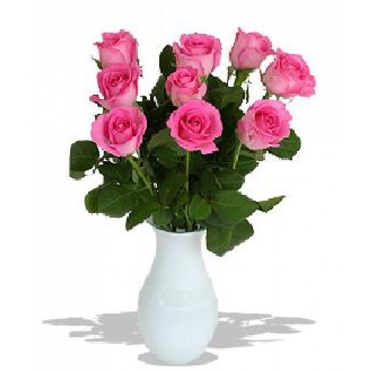 Pink roses 50 cm. Changeable amount of rose in bouquet.