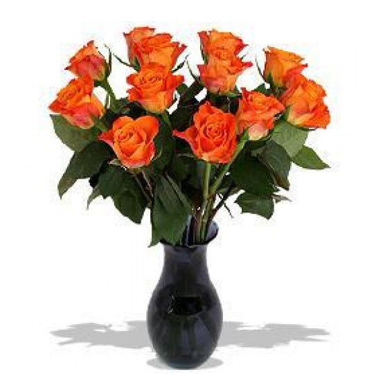 Orange roses 50 cm. Changeable amount of flowers in bouquet.