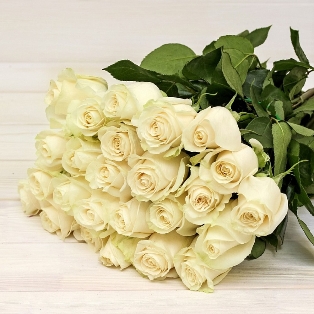 White roses 50 cm (select number of roses in bouquet)