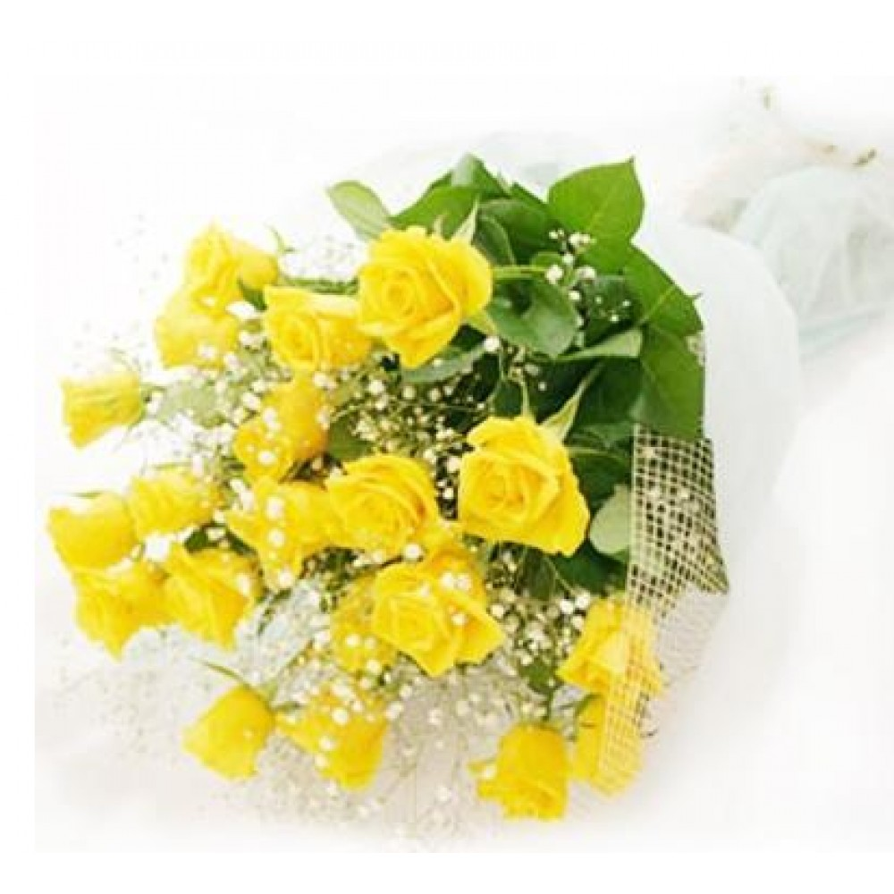 Yellow rose bouquet 50 cm