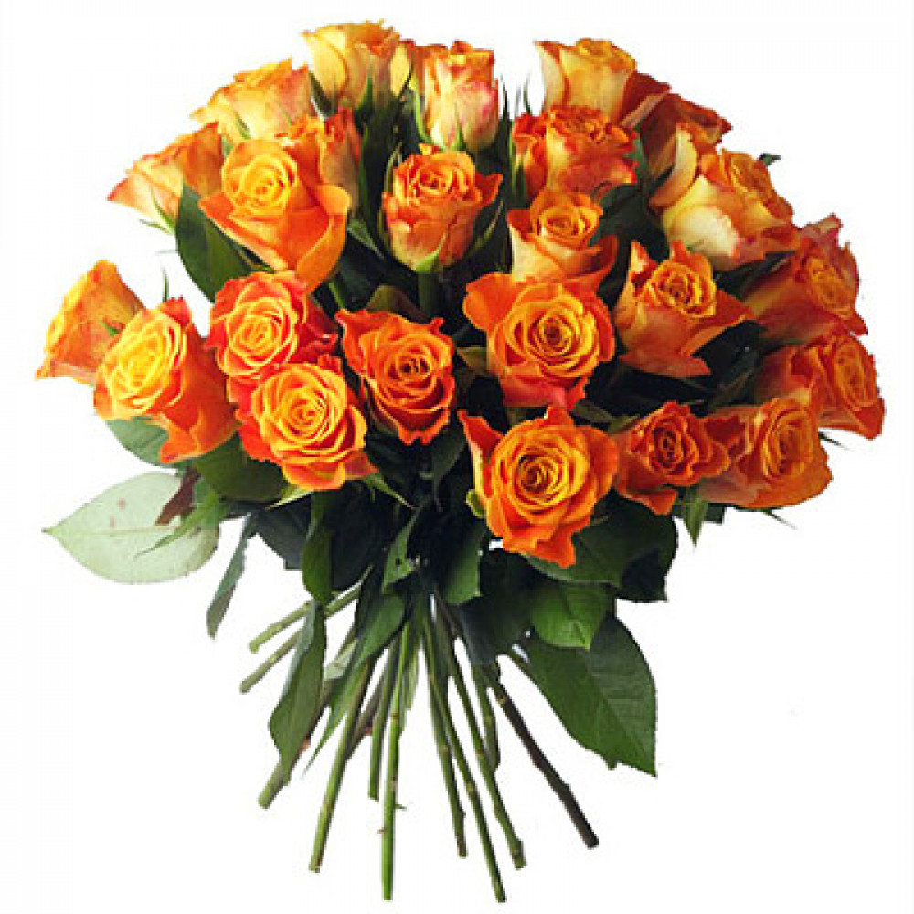 Orange roses 50 cm. Changeable amount of rose in bouquet.