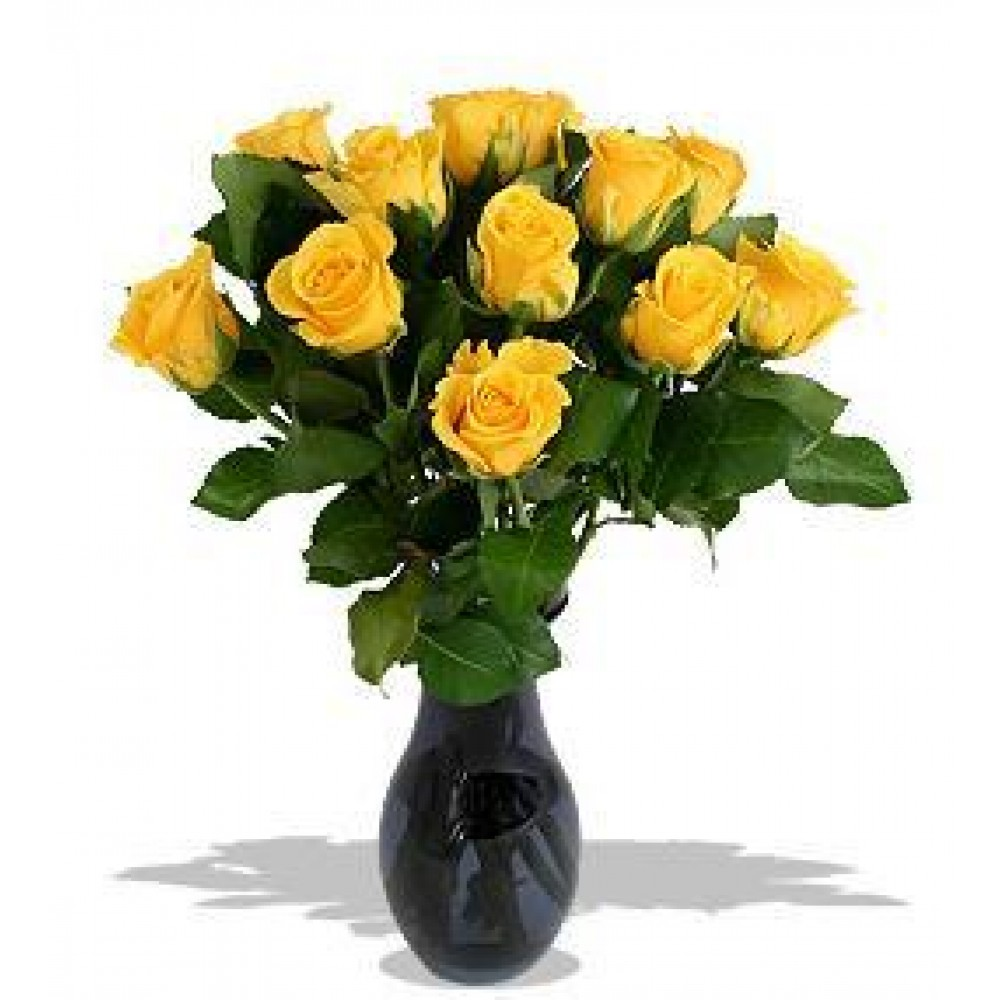Yellow roses 50 cm. Changeable amount of flowers in bouquet.
