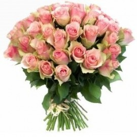 Pink roses 40 cm (variable quantity of flowers)