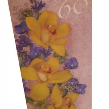 Card of the 60th anniversary 10x21 cm