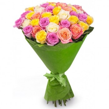 Multi-colored roses 60 cm. Bigger or smaller, select