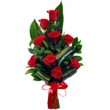 Elegant Red Rose Bouquet 60 cm