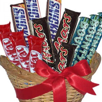Chocolate Bars in Basket