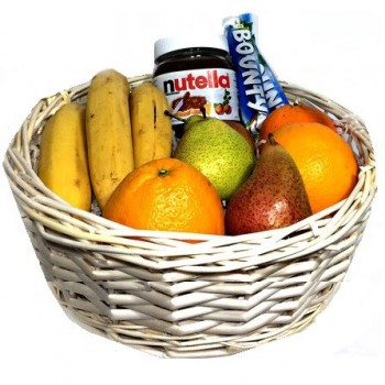 Fruit Basket 3 kg with Bounty and Nutella (only in Riga)