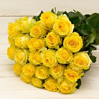 Yellow roses 50 cm (select number of roses in bouquet)