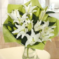 Bouquet of white lilies (select number)