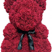 3D Rose Teddy WINE RED XL